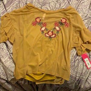 Gold Flower Top